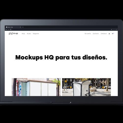 Mockups web page