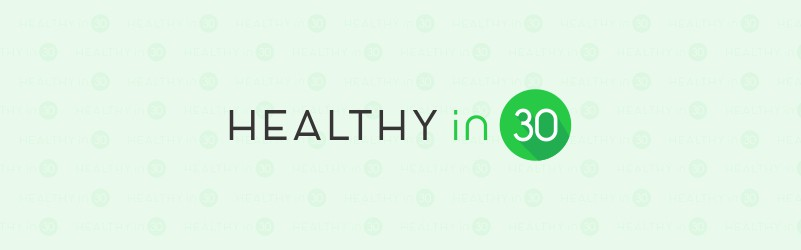 Healthy in 30 Logo for a dietitian