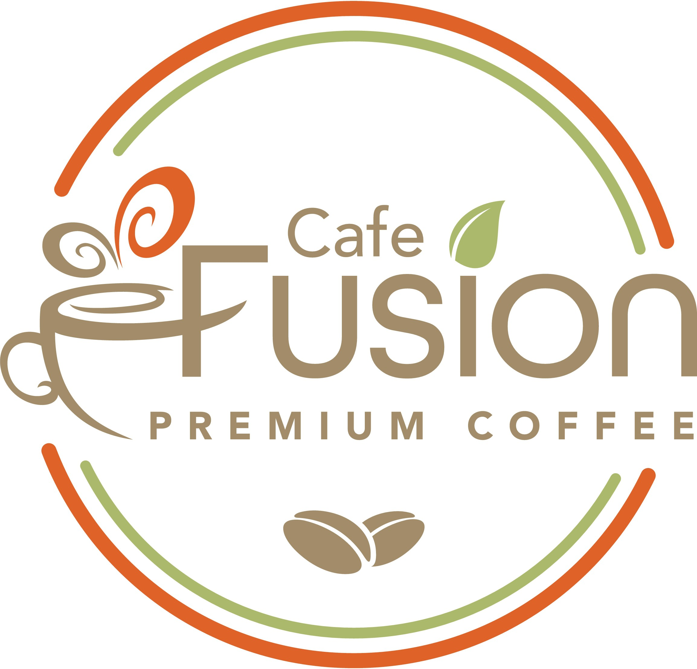 Create a logo for Cafe Fusion Premium Coffee that will make you want to pick it up off the shelves