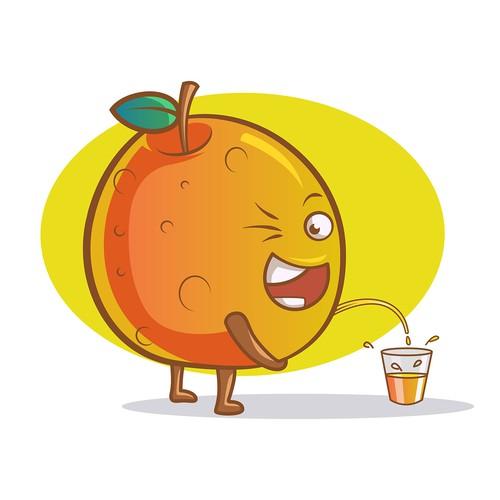 Funny Orange Cartoon