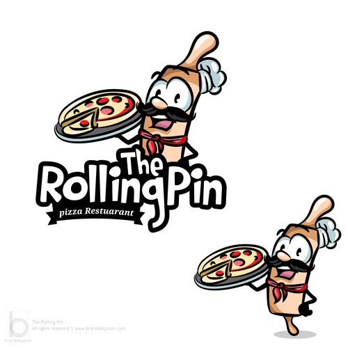 Identity design for 'The Rolling Pin'