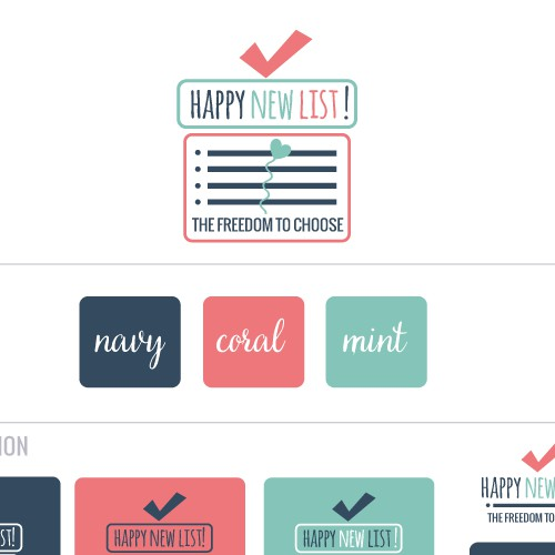 logo happy new list