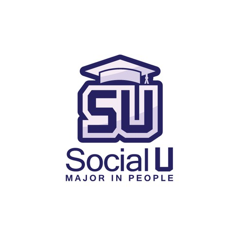 Iconic logo for an app SocialU