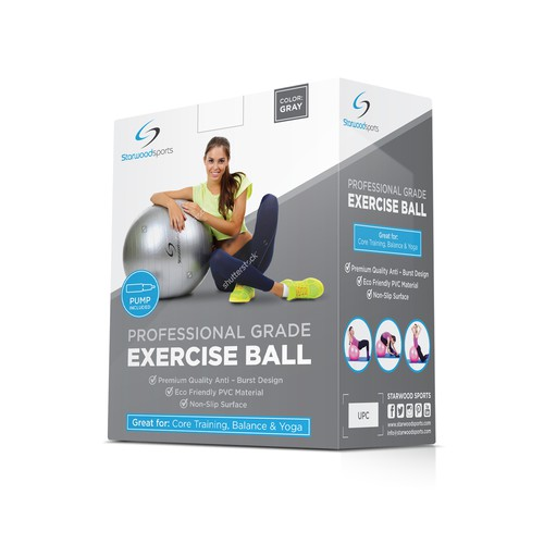 Package design for exercise ball