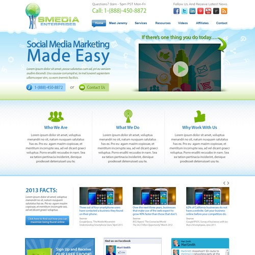 New website design wanted for Smedia Enterprises