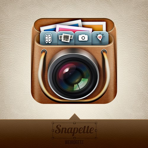 Create the next button or icon for Snapette