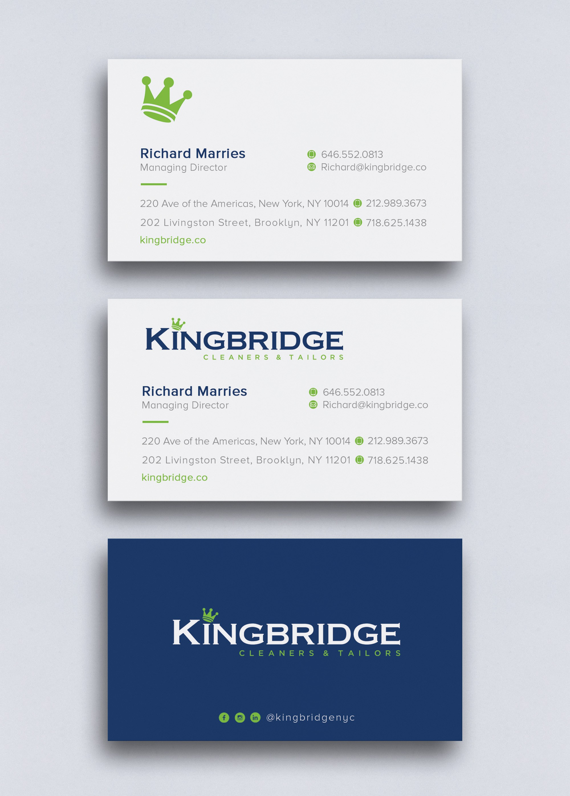 Kingbridge need Business Cards!
