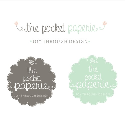 Little wedding design biz (the pocket paperie) needs a logo!