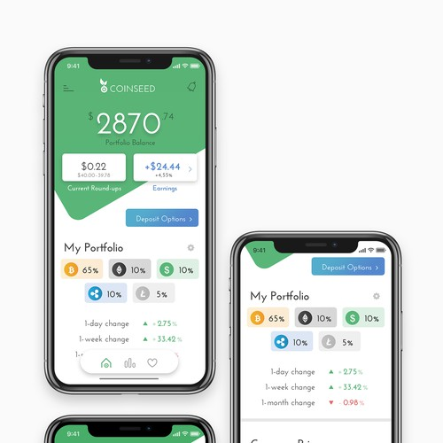 Design for Cryptocurrency App