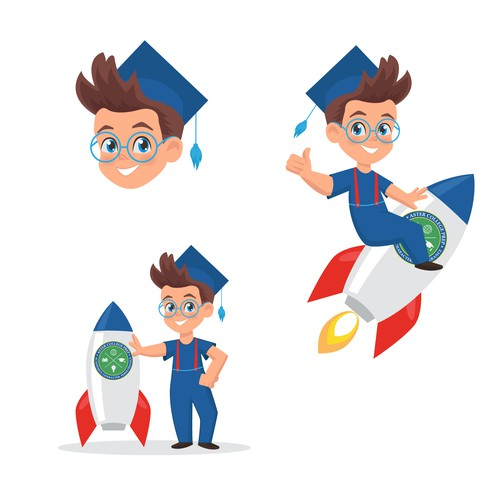 Mascot design illustration
