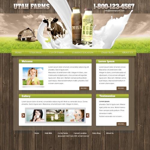 Design a new Milk Label's Website