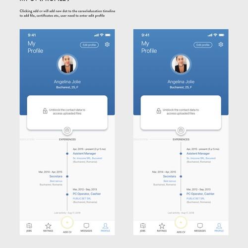 App Job Platform Concept