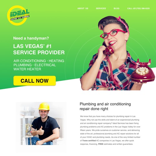 Website redesign for a service company
