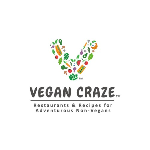 Cheerful logo for Vegan Craze