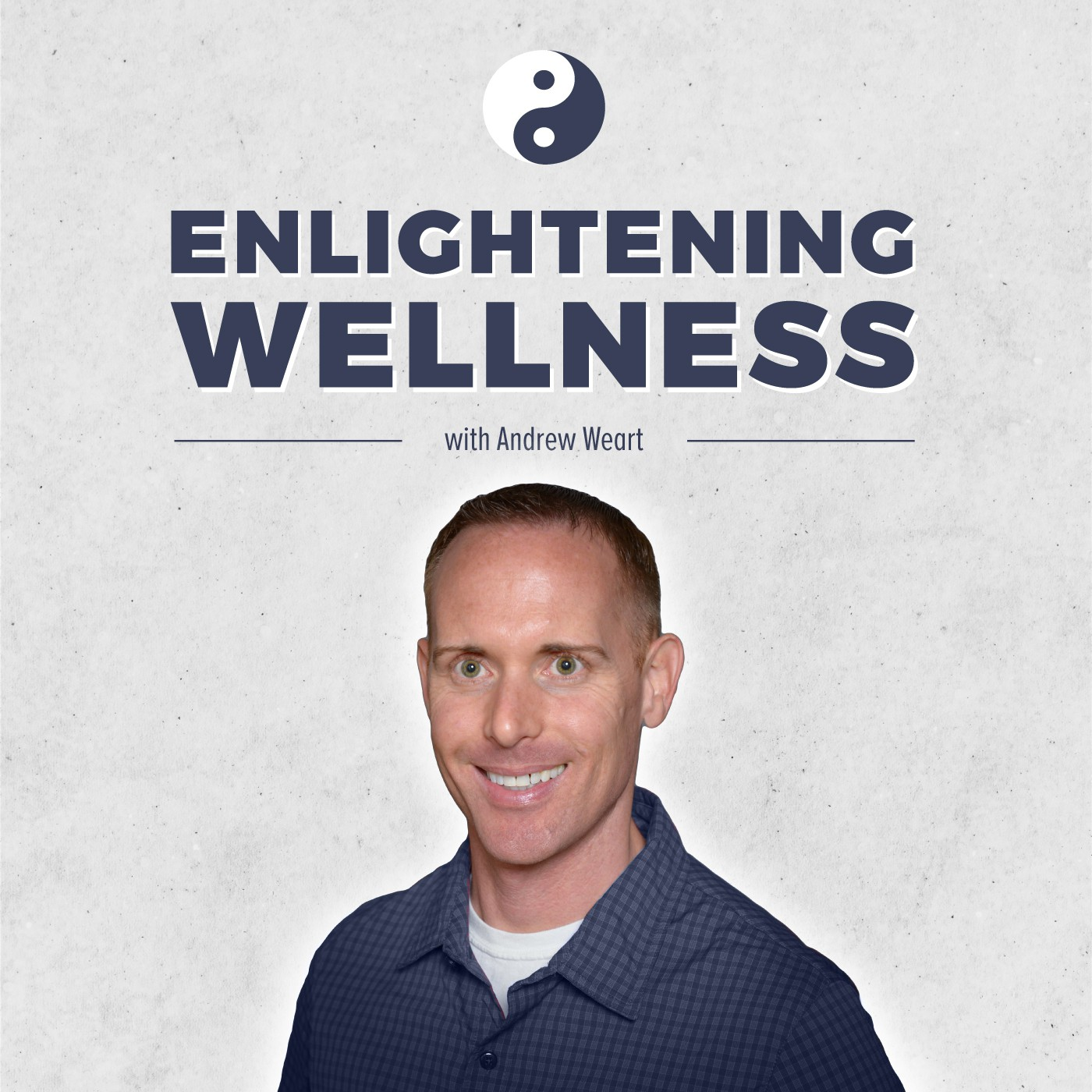 Design a logo for the Enlightening Wellness Podcast. Clean catchy looks that grab the listener's attention