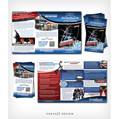 Brochure design for Headz n Threadz