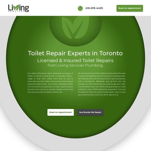 Plumbing Company Landing Page Design