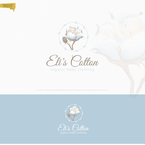 Modern and cute logo for the baby clothing company
