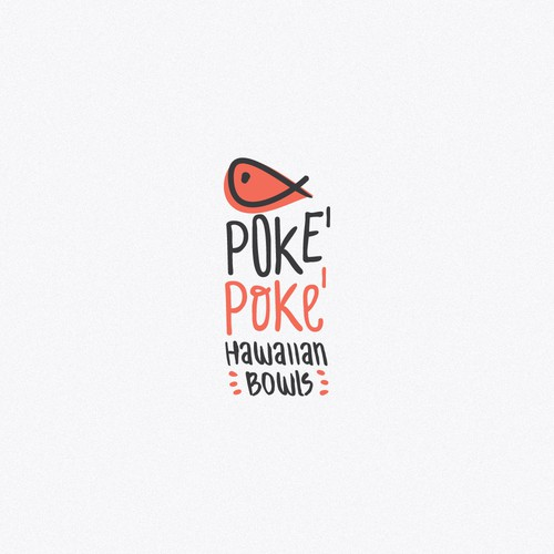 Logo for the poke hawaiian bowl