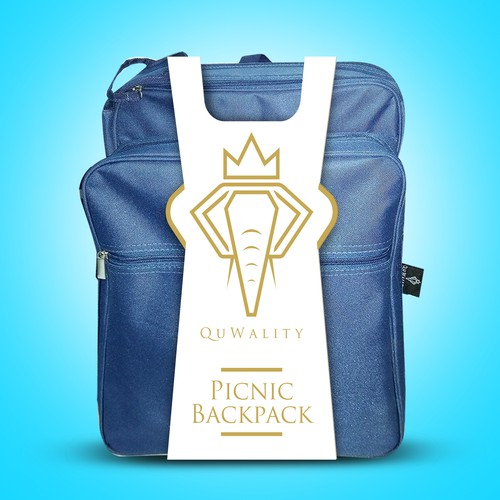 QuWality Picnic Backbag Label design
