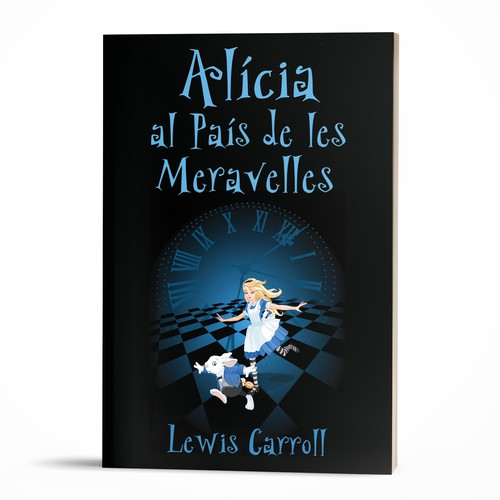 Fun and mysterious cover for a Catalan version of Alice in Wonderland