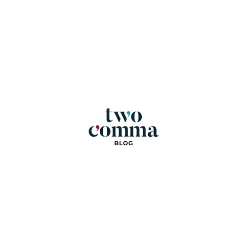 two comma blog logoype design