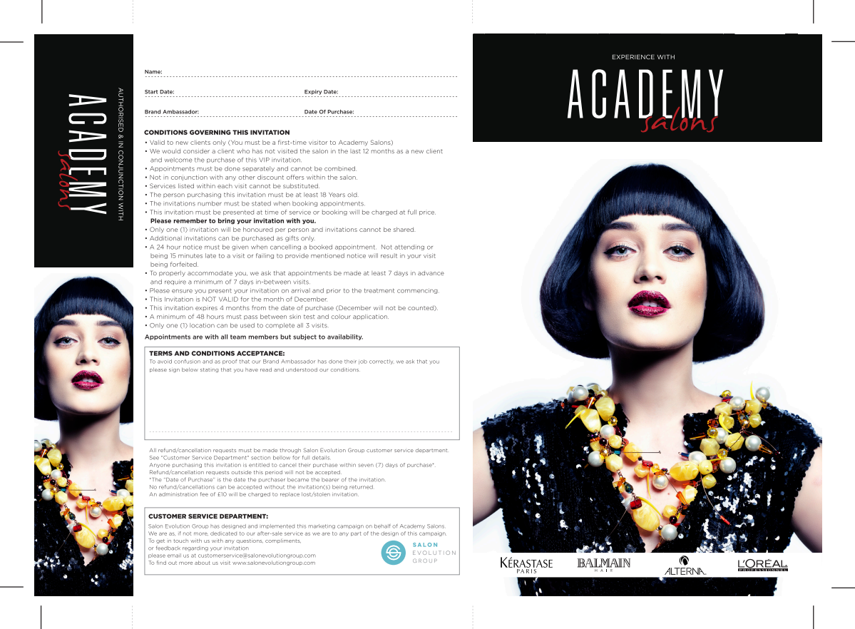Academy Salons 3 Visit Salon Invitation