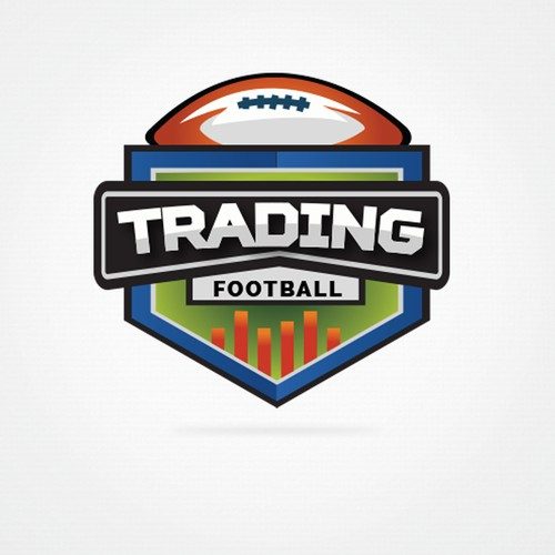 Trading football logo design