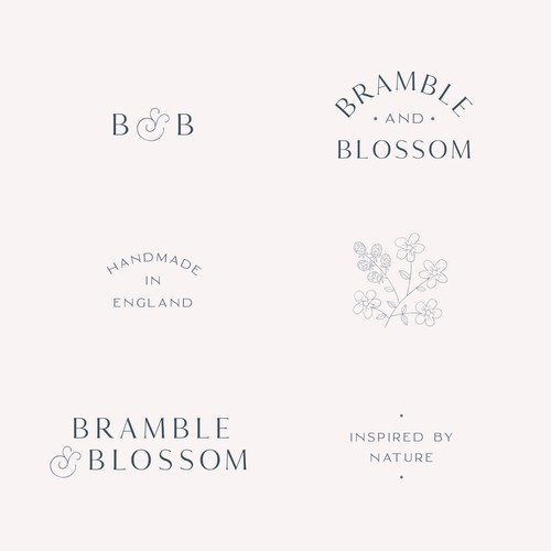 Bramble and Blossom branding