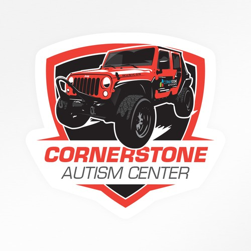 Cornerstone Jeep sticker