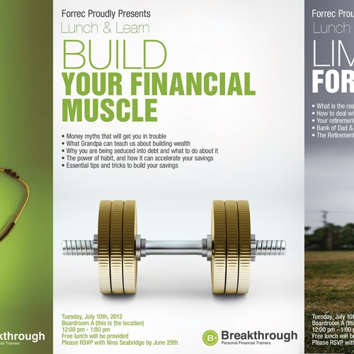 postcard or flyer for Breakthrough Personal Financial Trainers