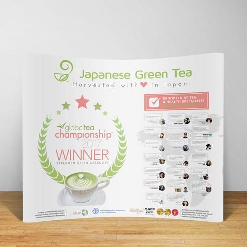 Tradeshow Booth Banner for Japanese tea brand