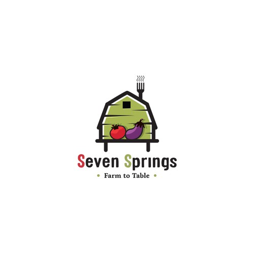 Fresh, young logo for Seven Springs Farm to Table