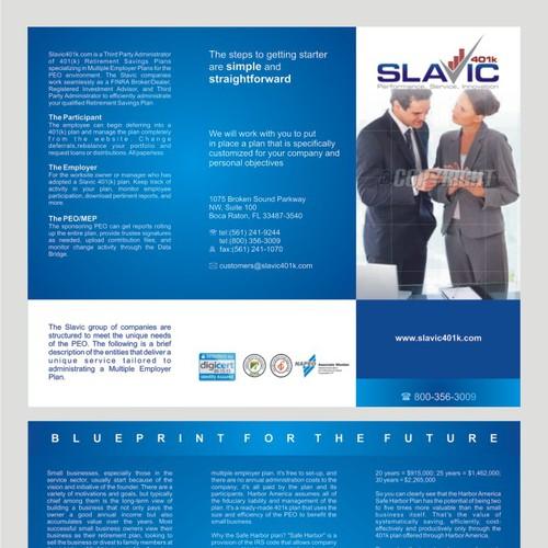 Help Slavic401k with a new brochure design