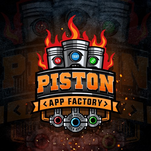 Logo Piston App Factory