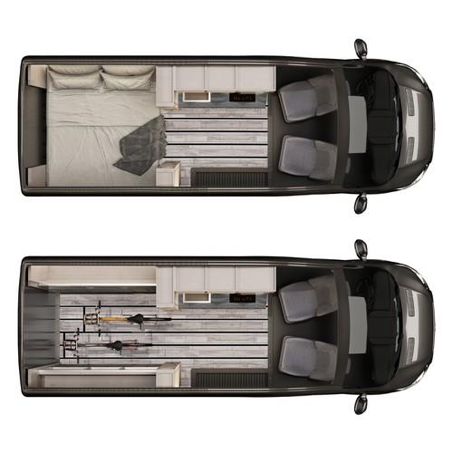 3d modeling interior van