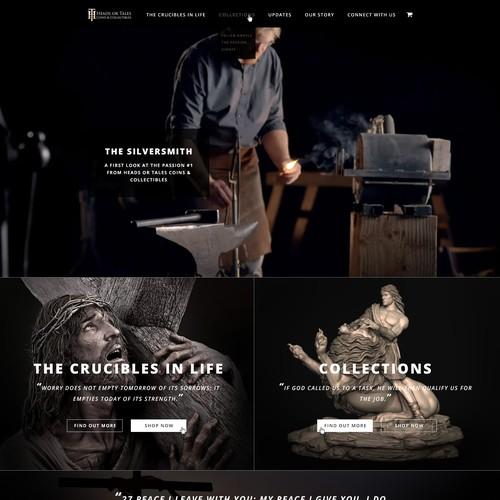 Dramatic religious sculpture website