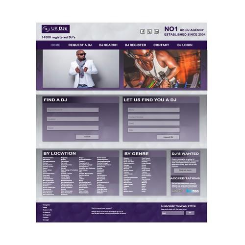 DJ Listing website