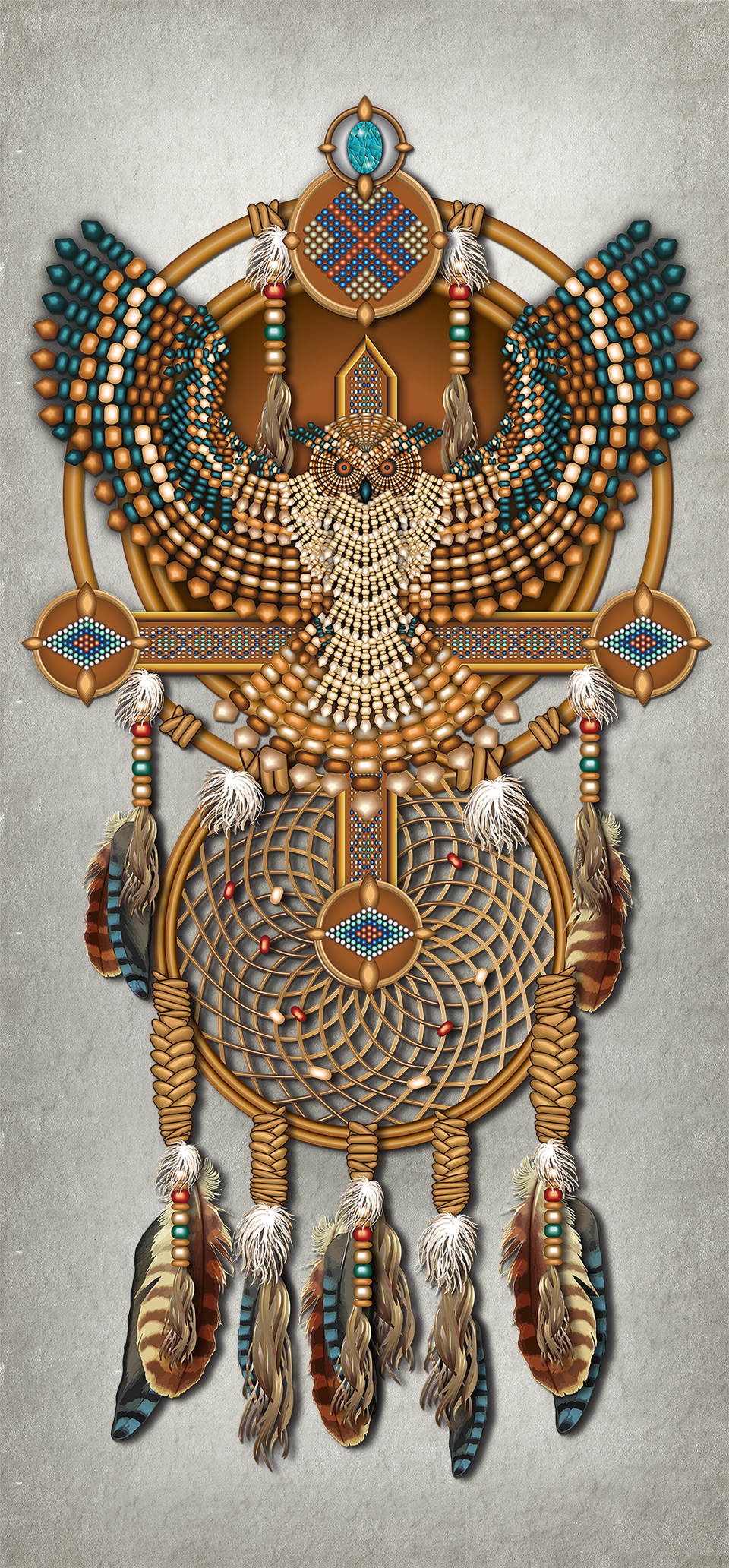 Native American Dreamcatcher Canvas