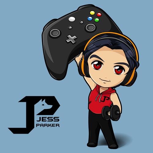 Sporty-Geek logo/character