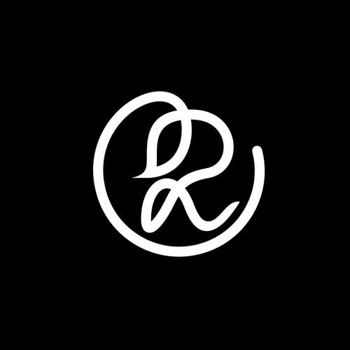 logo letter R concept woman