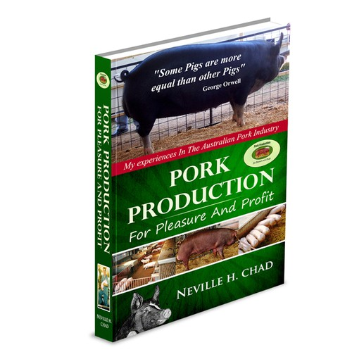Create the next book or magazine cover for Pork Production for pleasure andprofit