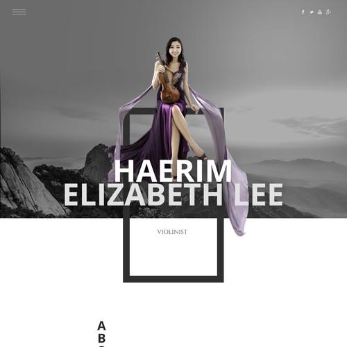 Violinist webdesign