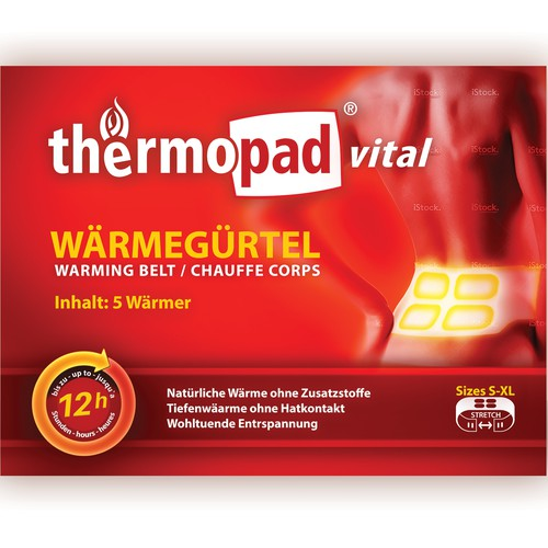 Label for well known Thermo pad