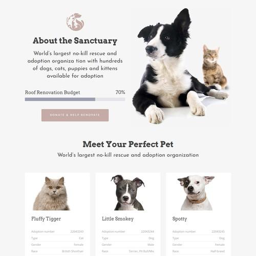 Pet's website design