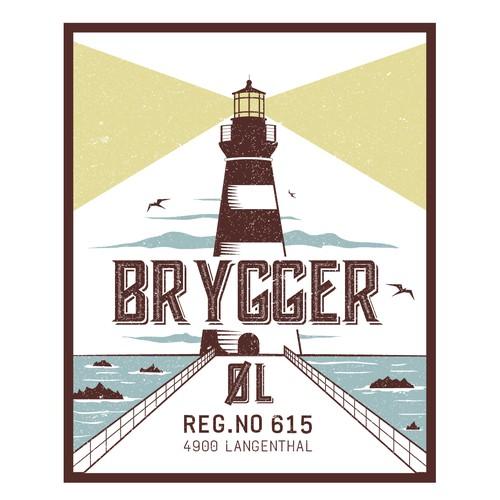 Brygger beer bottle label
