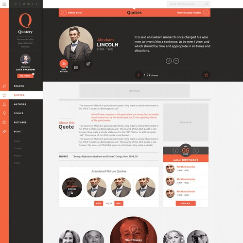 Quotery.com | Website Design