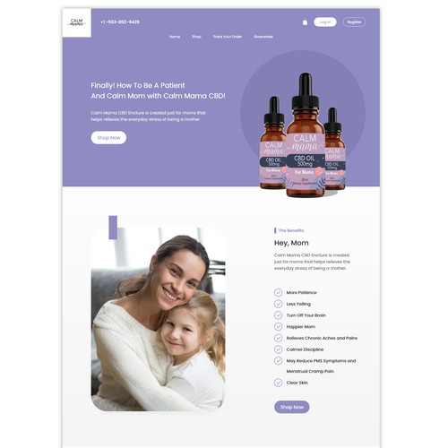 Calm mam CBD webdesign