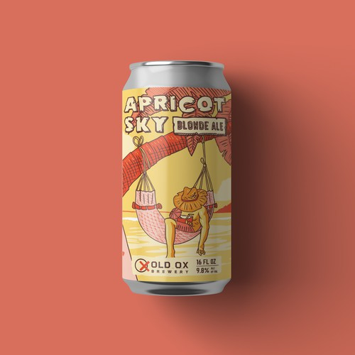 Summer themed beer can design.