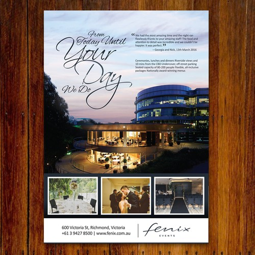 Magazine advertisement for fenix events